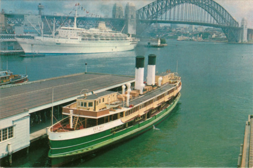 This is the Ferry 'Dee Why,' on which ran in the 1950s.  Named after a Sydney Beach Suburb