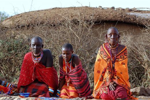 The Masai women