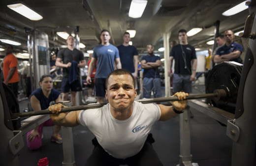 The atmosphere in the gym is usually inspired, but for some people it might be not nice.