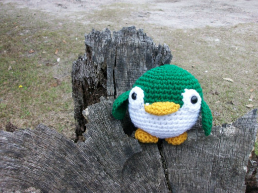 Plush penguin in Green