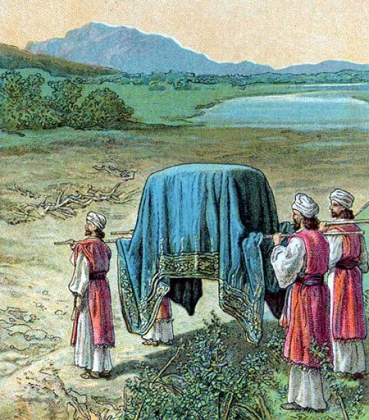 priests with the ark of the covenant