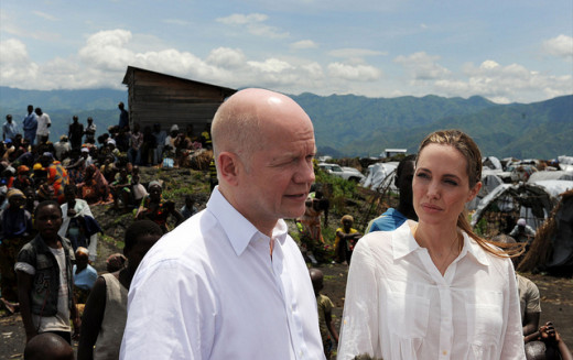 Angelina Jolie visits Nzolo Camp in the Democratic Republic of the Congo