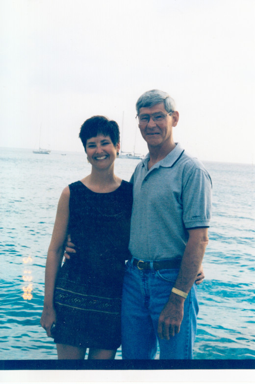 Daughter Christi and Joe at Cozumel, Mexico 2010