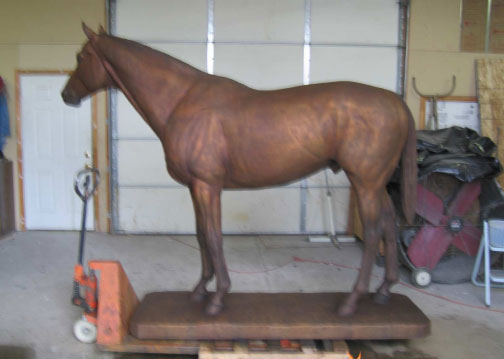 "Bronze of Seabiscuit by ""Tex"" Wheeler"
