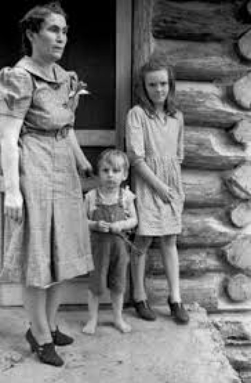 Ozark Mountain folk in the 1940s