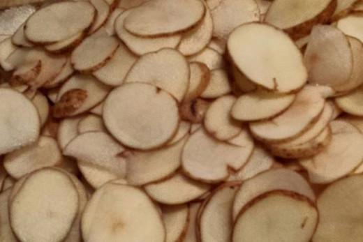 Sliced Russet Potatoes