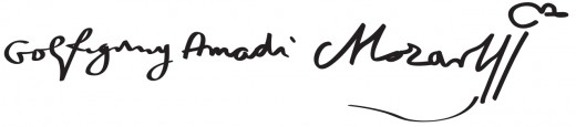 Mozart's signature.