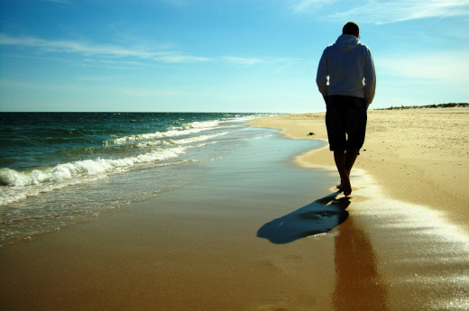 Walking on the beach can result in a wide variety of different health benefits.
