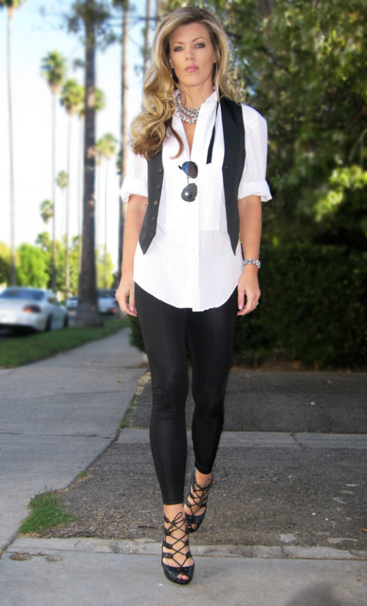 Find and save ideas about Black leggings outfit on Pinterest. | See more ideas about Black leggings outfit fall, Legging outfits and How to wear leggings. Women's fashion. Black leggings outfit / Grey Knit / White Shirt / Black Leggings / Burgundy Velvet OTK Boots- Great outfit to wear in the winter.