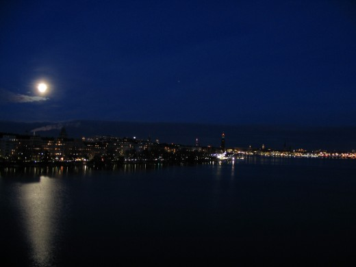 moon over Stockholm