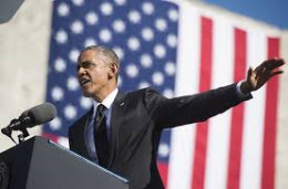 President Obama making a point