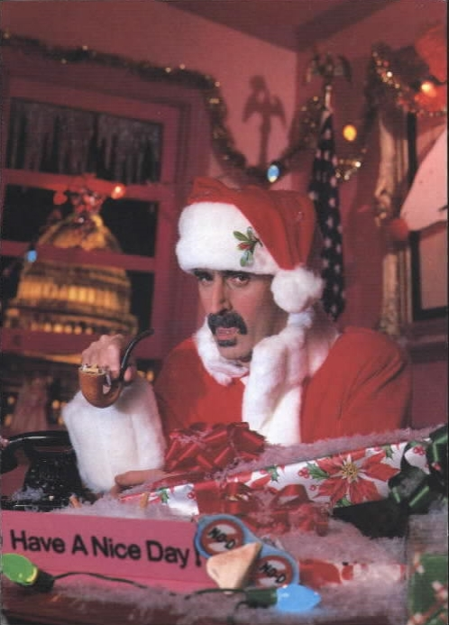 "Frank Zappa - Zappa Claus ""Christmas Greetings Card"" Old Masters Box Set Insert"