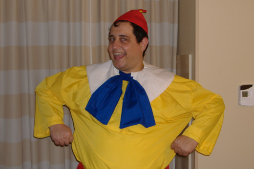 The author as Tweedledum