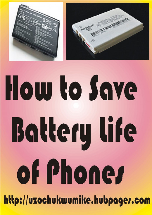 How to make the battery of phones to last for the users. The picture is designed with illustration.