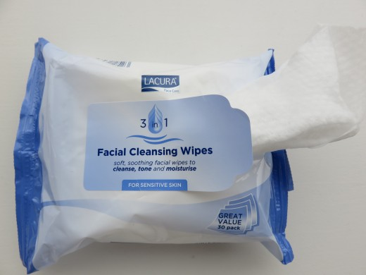 Aldi Lacura 3 in 1 Facial Cleansing Wipes