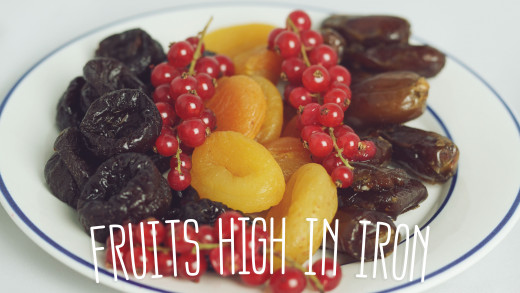 Ten fruits high in iron to add to your diet.