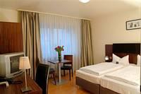 Typical room at City Hotel Mercator, Frankfurt
