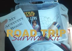 How to pack a road trip survival kit for kids