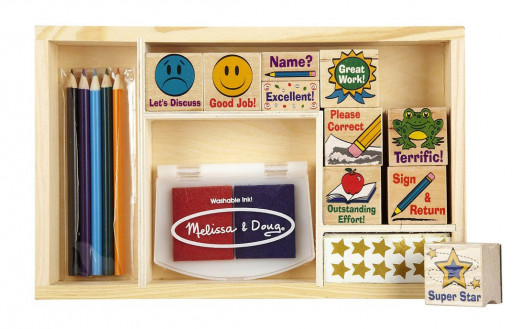 Illustrated stamps make grading papers quick and easy and teachers will appreciate them as gifts.