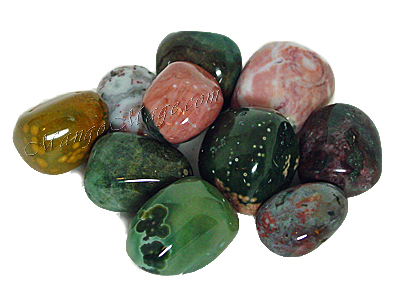 Ocean Jasper is ideal for dispelling negative feelings and stimulating the solar plexus, heart and throat chakras,