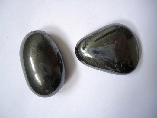 Some crystals, such as these hematite stones can be damaged by salt water.