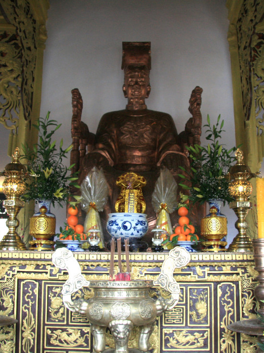 A shrine to Tran Nhan Tong, king during the second and third invasions.