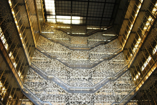 NYU's Bobst Library now features floor-to-ceiling aluminum barricades to discourage suicides.