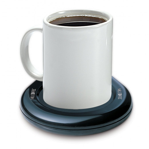 The Mr. Coffee MWBLK.  Mug warmers are excellent gadgets for those who want to keep their favorite beverage hot.  Whether you are a coffee, tea, or cocoa drinker, there is nothing worse than your beverage going cold while you work or relax.