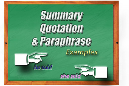 Summary and paraphrase