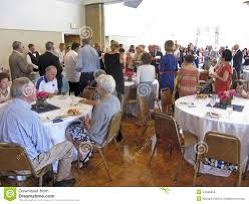 Church socials usually draw a big crowd with neighbors and church members
