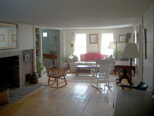 Living room after restoration