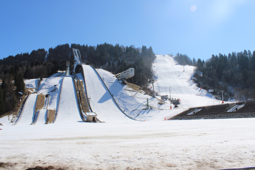 Ski jump at olympic stadium