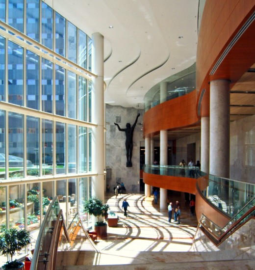 Mayo Clinic Atrium with Beautiful Stairway