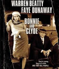 "Faye Dunaway and Warren Beatty made bank robbing famous in the movie, ""Bonnie and Clyde"""