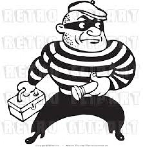 Vintage bank robber icon