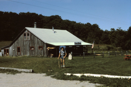 We ate delicious pancakes and maple syrup at the Mt. Cube Sugar Farm.