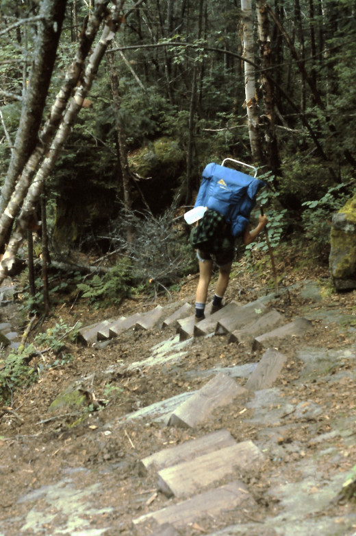 There was a lot of impressive trail construction and maintenance on Mt. Moosilauke.