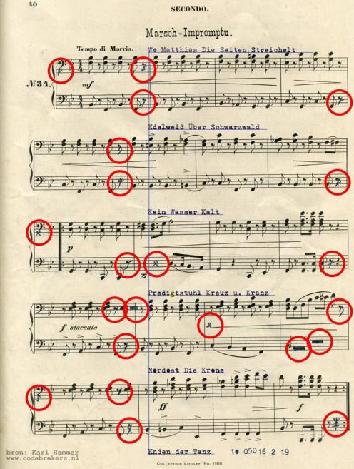 Gottfried Federlein's Marsch-Impromptu... is there a code in it?