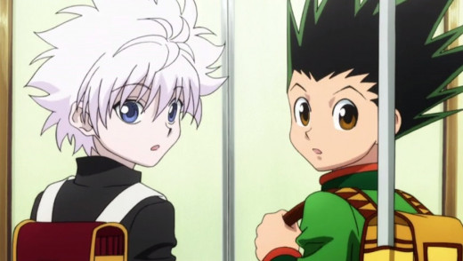 Gon Freecss (right) and Killua Zoldyck (left)