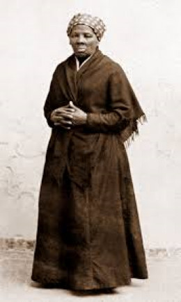 "Harriet Tubman: ""conductor"" of the Underground Railroad."