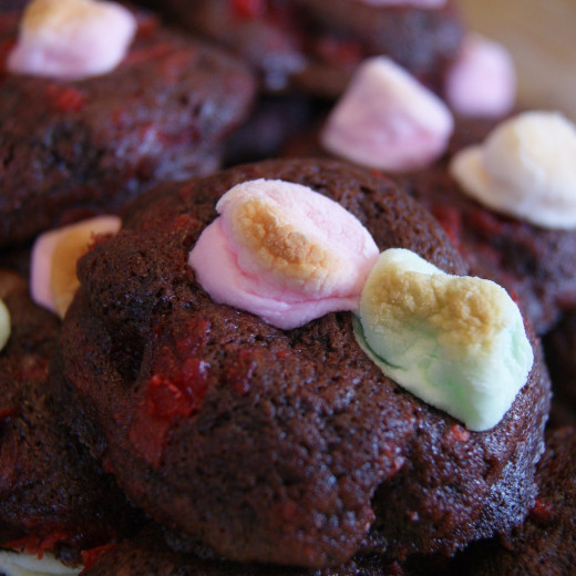 Cherry Chocolate Marshmallow Cookies