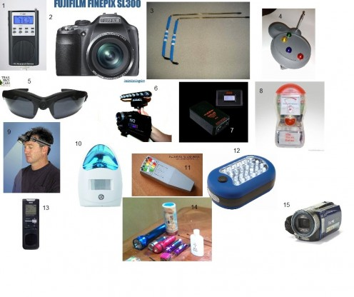 This is the equipment currently owned by Soul Searchers Paranormal