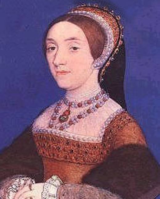 Miniature Portrait of Catherine Howard, Henry's fifth wife, painted in 1540 by King Henry VIII's favorite portrait artist, Hans Holbein the Younger.  Catherine was much younger than Henry and her flirtatious nature would serve to be her undoing.