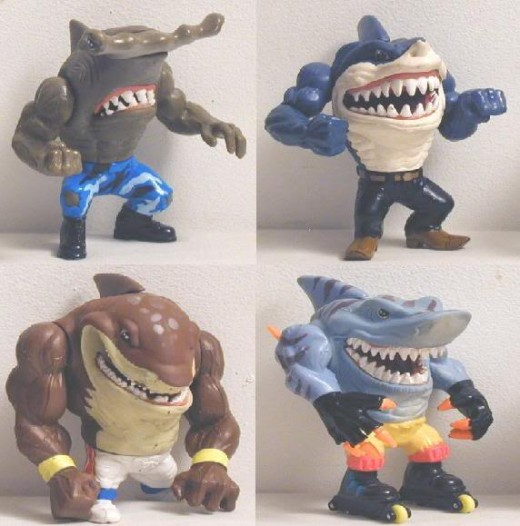 Our heroes were humanoid sharks. Made during a time when humanoid creatures were apparently a fad.