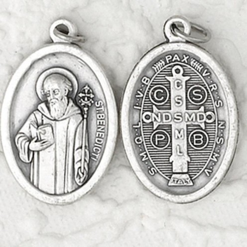 The St Benedict medal is inscribed with a powerful exorcism prayer on it. This medal offers strong protections against demonic and negative spirits. St. Benedict was the founder of the Benedictine monastic order, and many stories involving the barrin