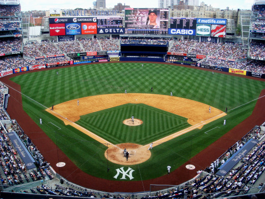 The second Yankee Stadium, which opened in 2009.  Although the American professional baseball franchise are based in the Bronx borough of New York City, The New York Yankees do their Spring training in the Tampa Bay area.
