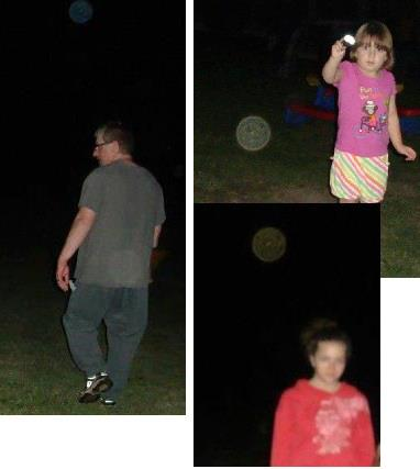 3 different pictures taken on the same night with an orb above each family member. Coincidence ??