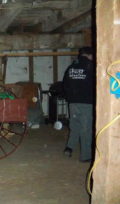 An orb following one of the investigators
