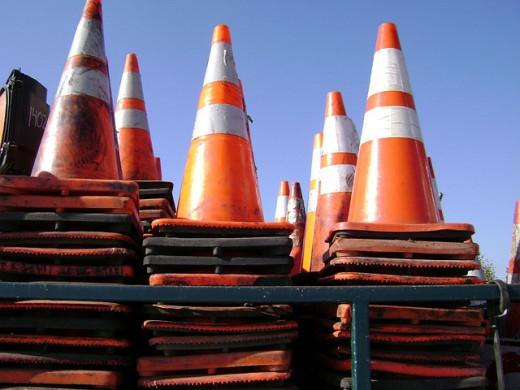 Secret stash of cones hidden at area 51.