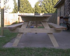 How to Build or Make Your Own Custom Picnic Table